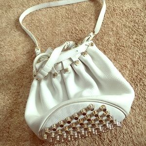 Alexander Wang White Leather Bucket Bag